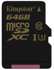 Kingston Gold microSDXC UHS-I U3 фото